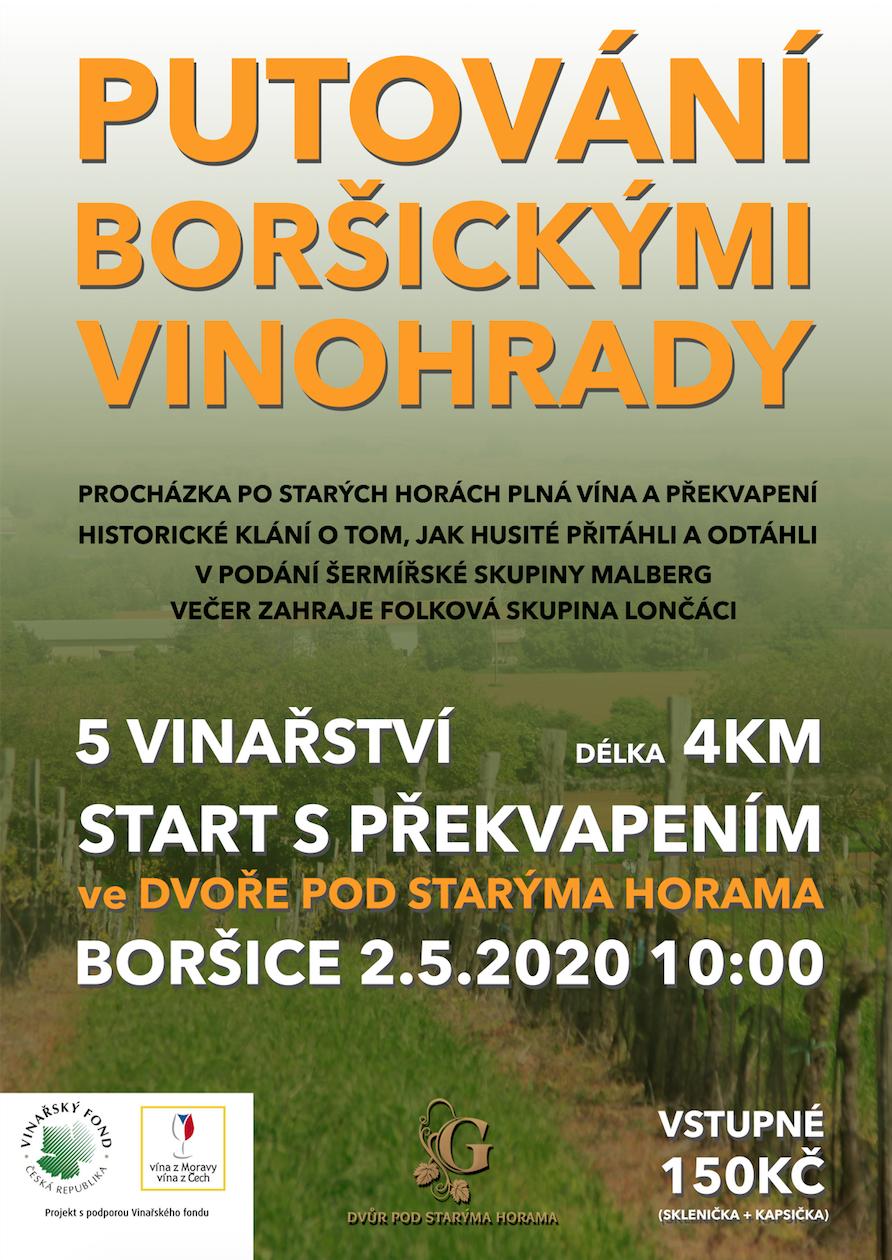 Putování boršickými vinohrady -Boršice